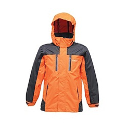 Regatta - Orange/ navy kids captive waterproof jacket