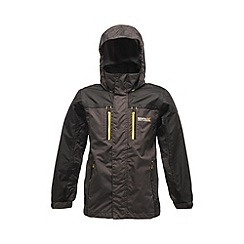 Regatta - Dark grey/ black kids captive waterproof jacket