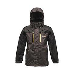Regatta - Dark grey/ black kids captive waterproof jacket