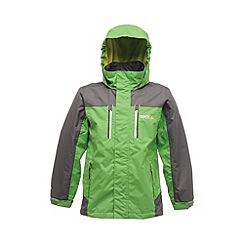 Regatta - Bright green/ grey kids captive waterproof jacket