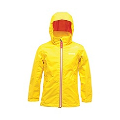Regatta - Bright yello girls chaca waterproof jacket