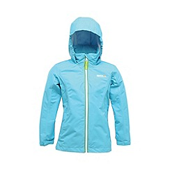 Regatta - Blue girls chaca waterproof jacket