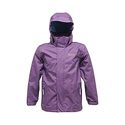 Regatta - Alpinepurple kids ferdie waterproof jacket
