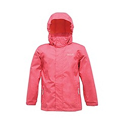 Regatta - Pink kids ferdie waterproof jacket