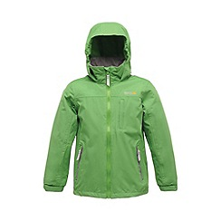 Regatta - Extrme green boys horace waterproof jacket