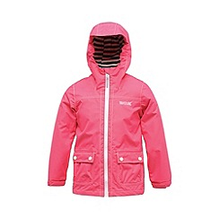 Regatta - Pink kids foxworth waterproof jacket