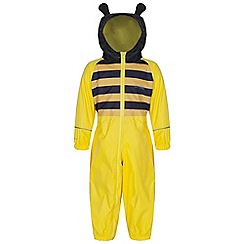 Regatta - Kids Bright yello toddler animal all in one waterproof