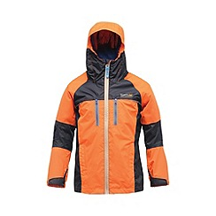 Regatta - Orange/ navy kids allpeaks waterproof jacket