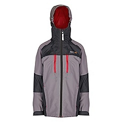 Regatta - Boys Rock gray all peaks waterproof jacket