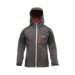 Regatta - Grey kids scafell stretch waterproof jacket