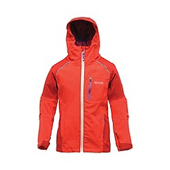 Regatta - Red kids scafell stretch waterproof jacket