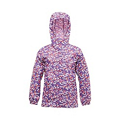 Regatta - Purple kids printed packit jacket