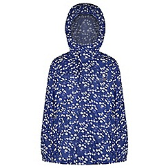 Regatta - Kids Blue printed waterproof pack it jacket