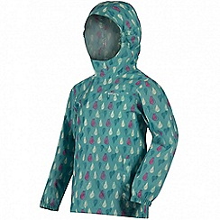 Regatta - Kids Aqua printed waterproof pack it jacket