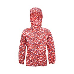 Regatta - Pink kids printed packit jacket