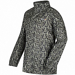 Regatta - Kids Green printed waterproof pack it jacket
