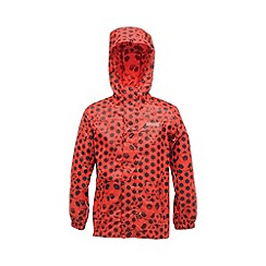 Regatta - Red kids printed packit jacket