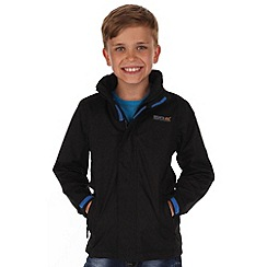 Regatta - Black kids greenhill waterproof jacket