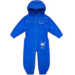 Regatta - Kids Blue Puddle waterproof onesie