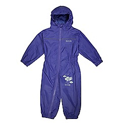 Regatta - Girls Purple kids puddle waterproof onesie