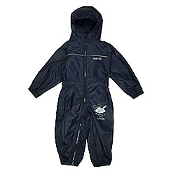 Regatta - Boys Navy kids puddle waterproof onesie