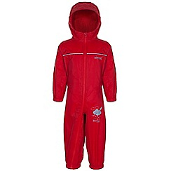 Regatta - Kids Red Puddle waterproof onesie