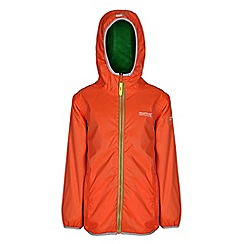 Regatta - Boys Orange/ green lagoona waterproof jacket