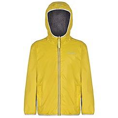 Regatta - Kids Yellow Lagoona waterproof jacket