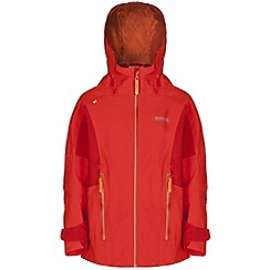 Regatta - Boys Orange hipoint stretch waterproof jacket