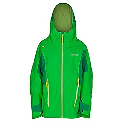 Regatta - Boys Green hipoint stretch waterproof jacket