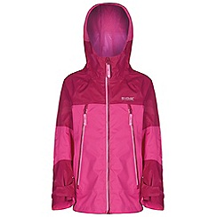 Regatta - Girls Pink allcrest waterproof jacket