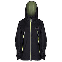 Regatta - Boys Black allcrest waterproof jacket