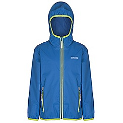 Regatta - Kids Blue lever waterproof jacket