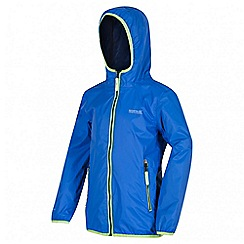 Regatta - Boys' blue lever waterproof jacket