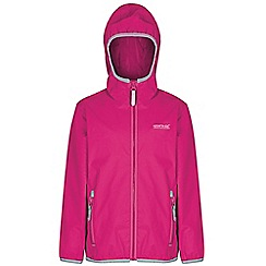 Regatta - Girls Pink lever waterproof jacket