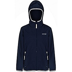 Regatta - Kids Navy lever waterproof jacket