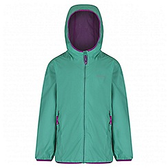 Regatta - Girls' mint green lever waterproof jacket