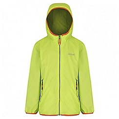 Regatta - Kids Lime green Lever waterproof jacket