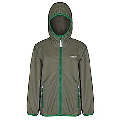 Regatta - Kids Green lever waterproof jacket