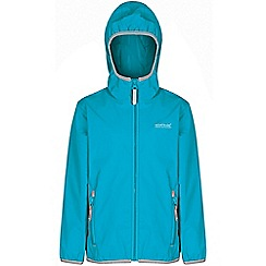 Regatta - Girls Teal lever waterproof jacket