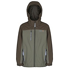 Regatta - Boys Green hilander waterproof jacket