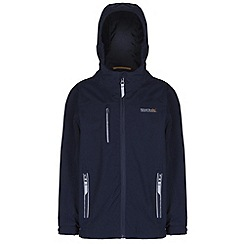 Regatta - Boys Navy hilander waterproof jacket