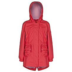 Regatta - Girls Red treasure fishtail waterproof jacket