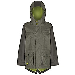 Regatta - Boys Green scarper fishtail waterproof jacket