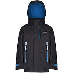 Regatta - Boys Black fusilier waterproof jacket