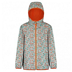 Regatta - Girls' mint green printed lever waterproof jacket