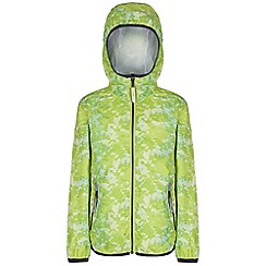 Regatta - Kids Lime green printed lever waterproof jacket