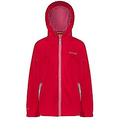 Regatta - Girls Pink hiflier waterproof jacket