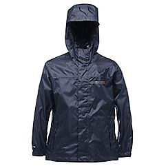 Regatta - Kids Navy Packable waterproof jacket