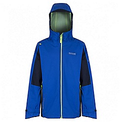 Regatta - Boys' blue hipoint stretch waterproof jacket